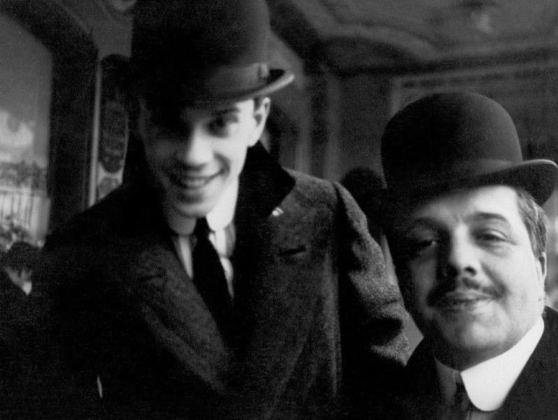 Вацлав Нижинский и Сергей Дягилев в Ницце, 1911. Фото из архива А. Боткиной, проект «История России в фотографиях»